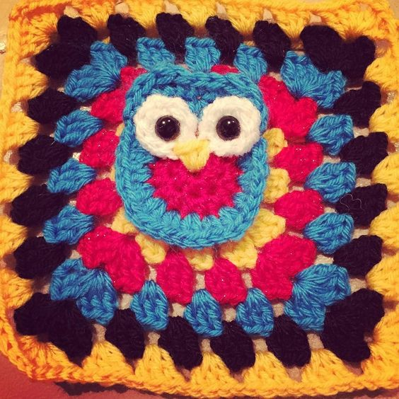 Currently working on a blanket for my grandma. She is loosing sight and has Alzheimer's. This is my attempt at making a sensory blanket for her with bits to fiddle with. #owl #wip #alzheimers #alzheimersblanket #twiddleblanket #grannysquare #crocheted #crochet #crochetersofinstagram #colourful #sensory #Craftylamb #crochetblanket #crochetlove #handmadewithlove #handmade by defective_model