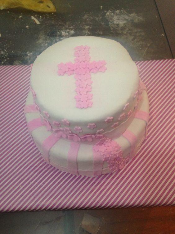 Torta bautizo  Fondant