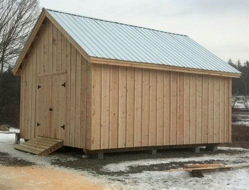 16 20 Barn Built Standard With Board And Batten Rough Sawn Pine Siding Prefab Barns Building A Shed Diy Shed Plans