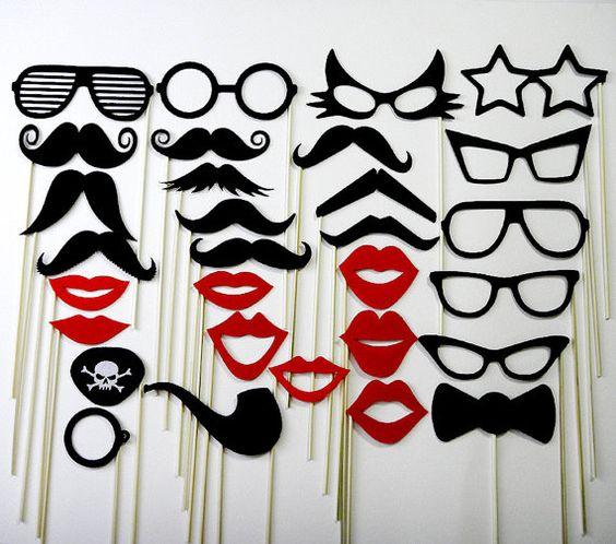 Moustache sur un bâton Wedding Favor Photo Party par stickprops, $44.99