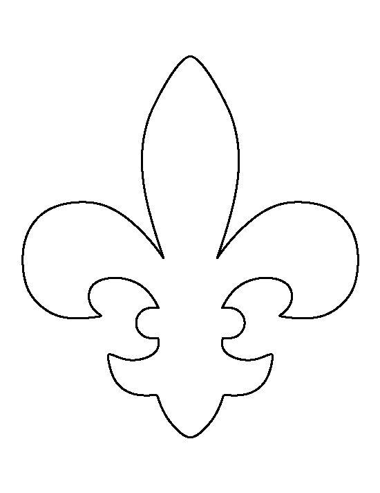 Fleur de lis pattern use the printable outline for crafts creating stencils scrapbooking and - Dessin fleur de lys ...