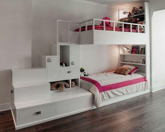 kinder-etagenbett -bilder-jugendzimmer-baby-weiß-verlängert ...