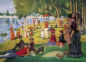 Tarde de domingo na ilha de Grande Jatte - Georges-Pierre Seurat (1884)