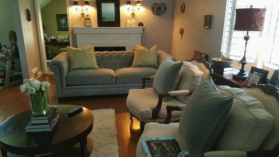 Martha Stewart couch with Sherwin Williams paint
