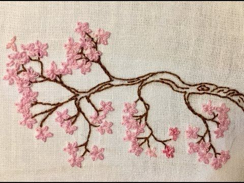 Simple Cherry Blossom Tree Embroidery Hand Embroidery Haelyn Embroidery Youtube Hand Embroidery Art Floral Embroidery Patterns Embroidery Hoop Art Tutorial