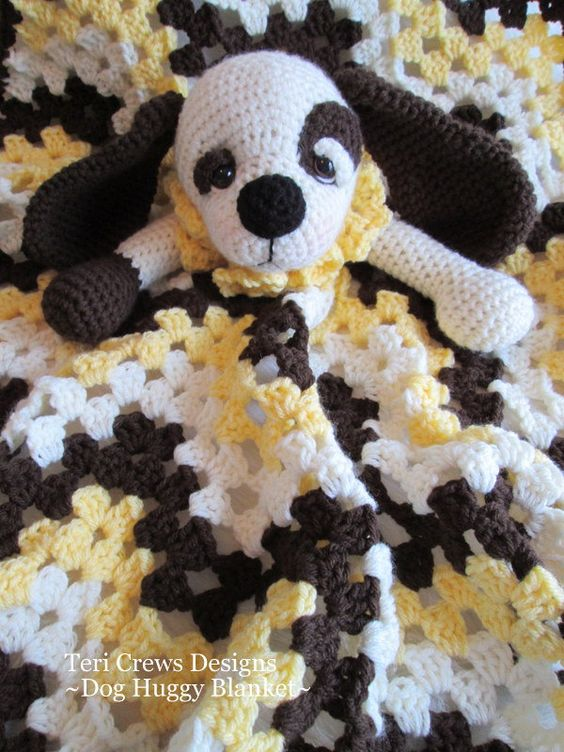 Crochet Pattern For Dog Blanket : Crochet Pattern Dog Huggy Blanket by Teri Crews instant ...