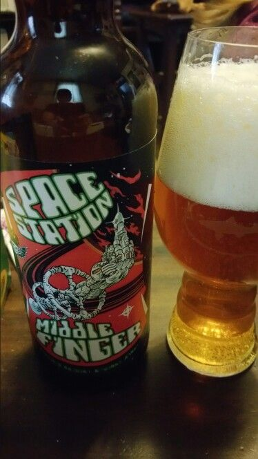 Space station middle finger beer 3 three floyds brewing 22oz bomber