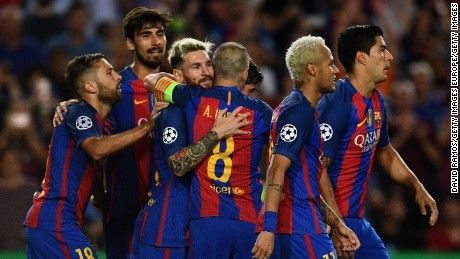 Messi Neymar star in Barcelona's record win