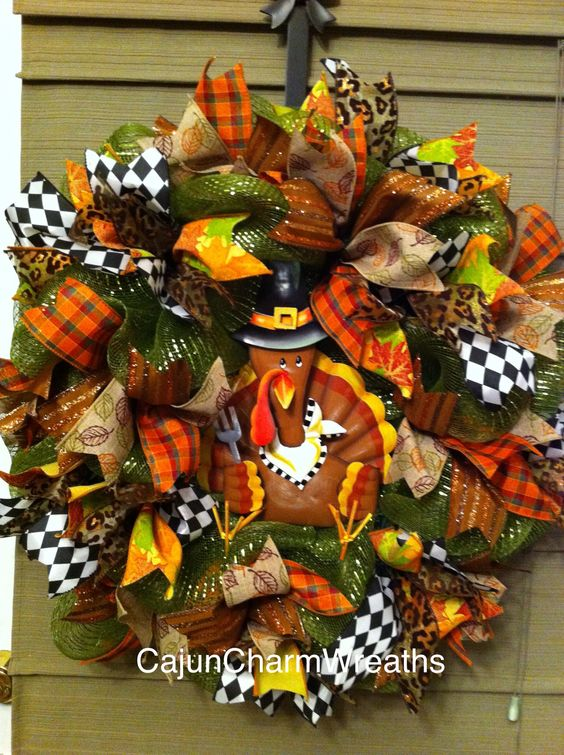 Thanksgiving Mini Turkey wreath