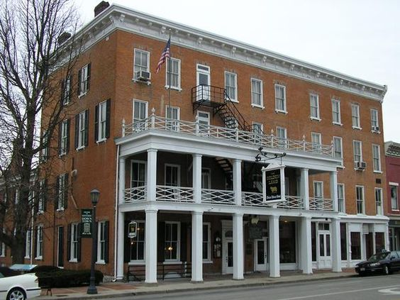 The Golden Lamb Inn in Lebanon, Ohio is the oldest hotel in the state, having opened in 1803. Twelve presidents and numerous literary figures have visited here, and the hotel is owned by the family of US Senator Rob Portman. The hotel is rumored to be haunted.