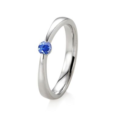 Blauer Saphir Sterlingsilberring  - Ring mit blauem SaphirRing mit blauem Saphir (Sterlingsilber 925)  Maisie