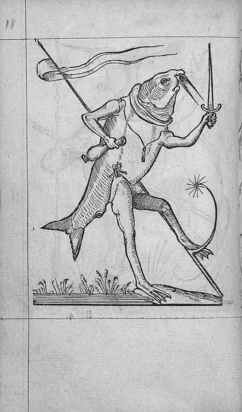 François Desprez,  f. B4 v° Dessin 18  Les Songes drolatiques de Pantagruel  A Paris : Par Richard Breton 1565 (4)