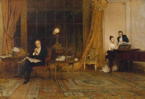 Sir William Quiller Orchardson ~ Her Mother's Voice    http://www.tate.org.uk