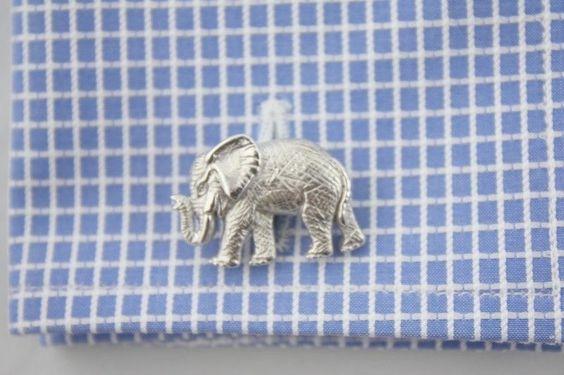 New Mens Victor Mayer Sterling Silver Elephant Cufflinks Made in Germany $795 | eBay
