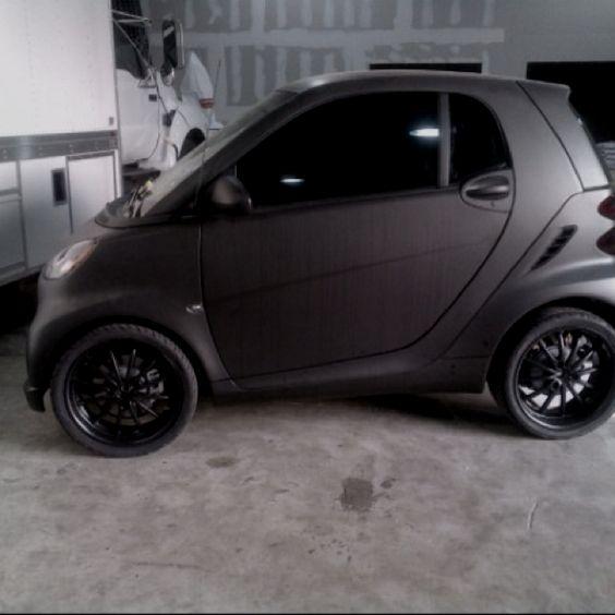 Murdered out Smart Car. Matte Black. | Matte Black Cars ...
