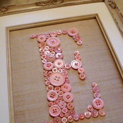 Plenty of buttons and a good amount of hessian, could easily make our initials for display in a frame.