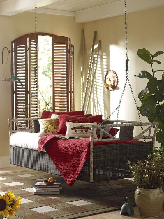 Porches daybeds and porch decorating on pinterest for Country porch catalog
