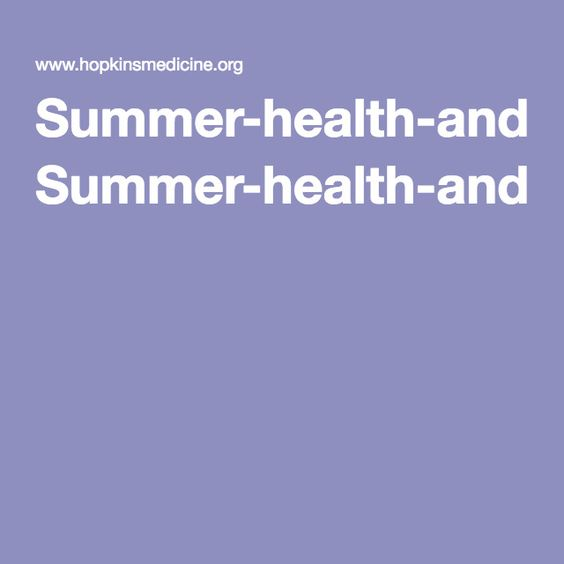 Summer-health-and-safety-infographic.pdf | Summer Safety ...