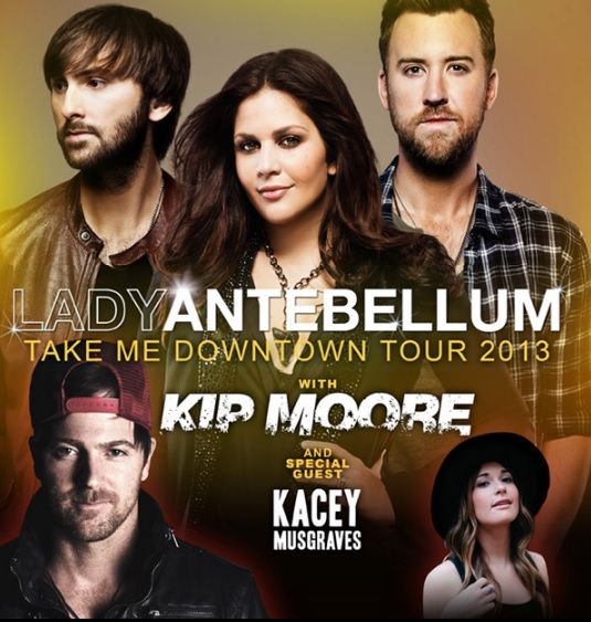Enter for your chance to win a pair of tickets to Lady Antebellum's Take Me Downtown Tour 2013, with special guests Kip Moore & Kacey Musgraves on November 9th at the Chaifetz Arena.
