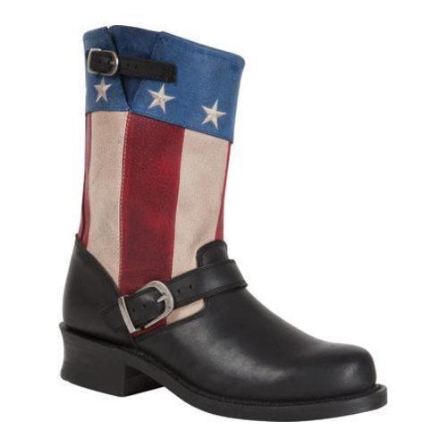 Women's Durango Boot DCRD158 9in SoHo American Engineer Black/Patriotic