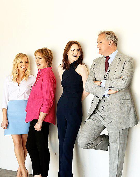 happymathilda: Joanne Froggatt, Penelope Wilton, Michelle Dockery, Hugh Bonneville attending PBS's 'Downton Abbey' panel tonight (1st August, 2015)