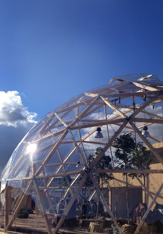 living under the #geodesic #dome. Dome of Visions / Kristoffer Tejlgaard + Benny Jepsen: