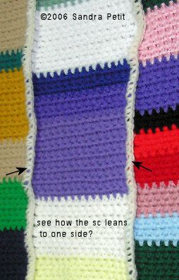 Joining Squares - single crochet