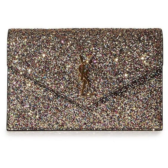 yves monogram saint laurent envelope chain wallet