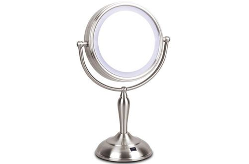 Led Makeup Lighted Vanity Mirror With Magnification Lighted