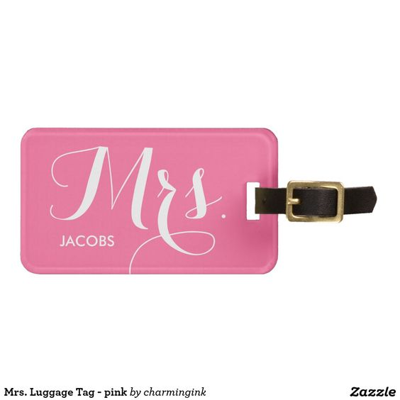 Mrs. Luggage Tag - pink Tag For Bags