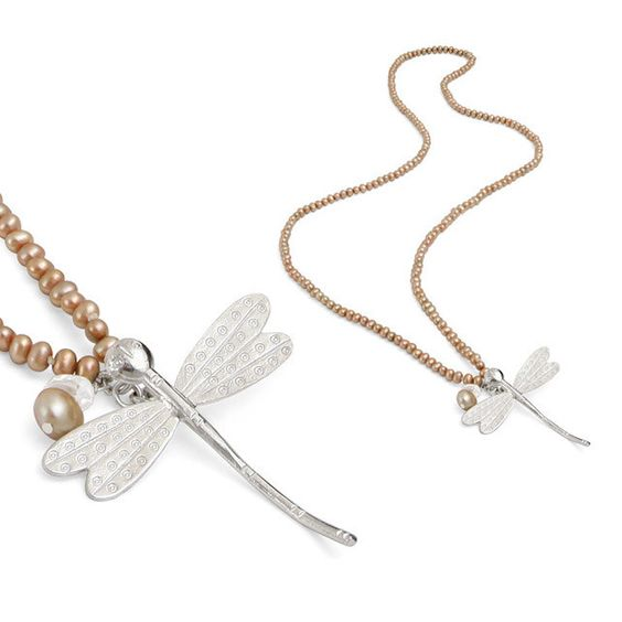 The Sophie Kinsella Dragonfly necklace, specially commissioned to celebrate Sophie's novel 'Twenties Girl' (http://www.claudiabradby.com/collections/specially-commissioned-necklaces/products/kinsella-necklace)