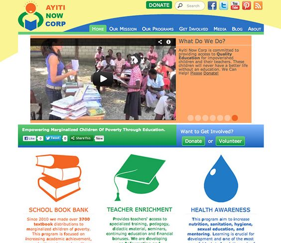 web design project for ayiti now corpy a non profit organization helping children in