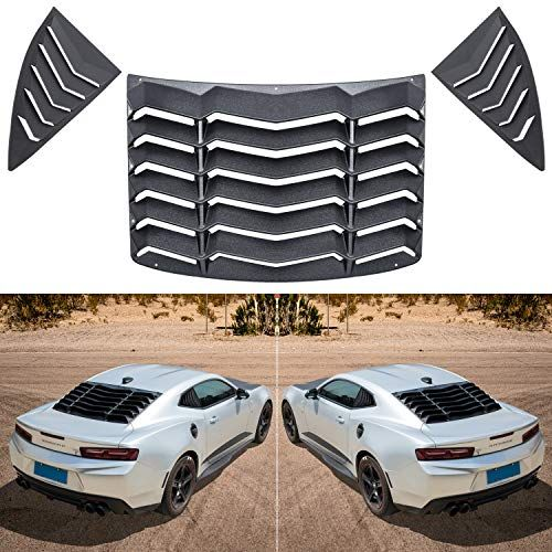 Sunluway Fit For Chevy Chevrolet Camaro 2010 2015 Quarter Side Window Louvers And Rear Window Louver Cover Matte Black Sun Shade Windshield Cover In Gt Lambo St Chevrolet Camaro Camaro Accessories Chevrolet