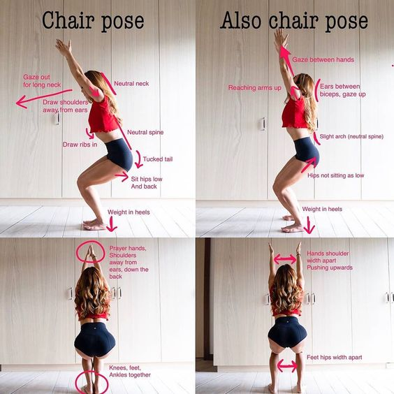 Method of Doing Utkatasana (Chair Pose)