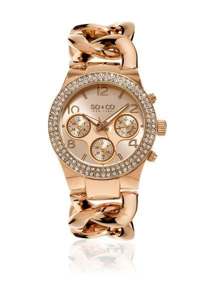 SO & CO New York Reloj de cuarzo Woman Rose Tone Chain Bracelet 38 cm en Amazon BuyVIP