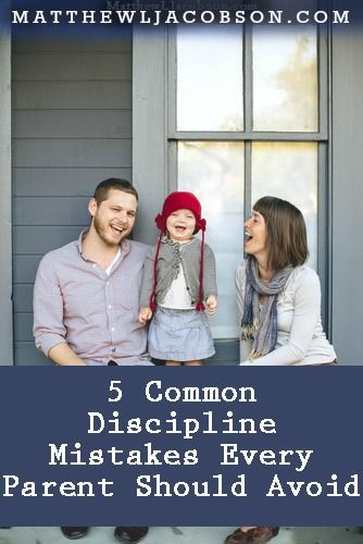 "Parents want to do a good job raising their children yet many (most?) parents fall into these 5 Common Discipline Mistakes on a regular basis. Being aware of them will help you avoid them. ""5 Common Discipline Mistakes Every Parent Should Avoid"" Written from a Christian Perspective but very solid - even if you come from a different perspective."