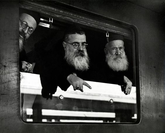 Rome 1950 Termini station. Three bishops return to their diocese in Tripoli, Algiers and Cyprus Egypte   •  Herbert List