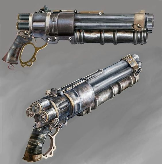 Steam punk pistol concept