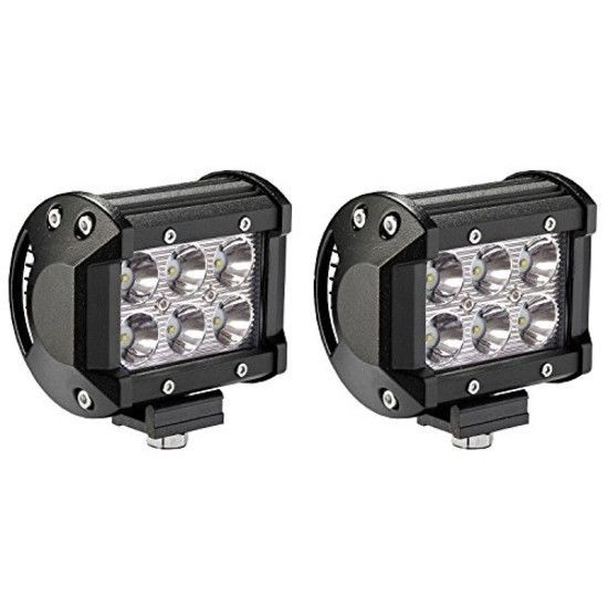 Fog Lights Led Offroad Waterproof 18w Off Road Vehicle Atv Suv Utv 4wd Black Bar Lighting Led Light Bars Led Fog Lights