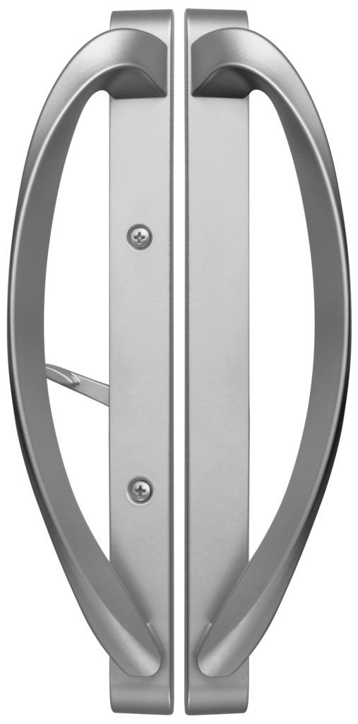 Rockwell Modena Contemporary Sliding Door Handle In Misty Gray Sliding Door Handles Patio Door Handle Sliding Doors