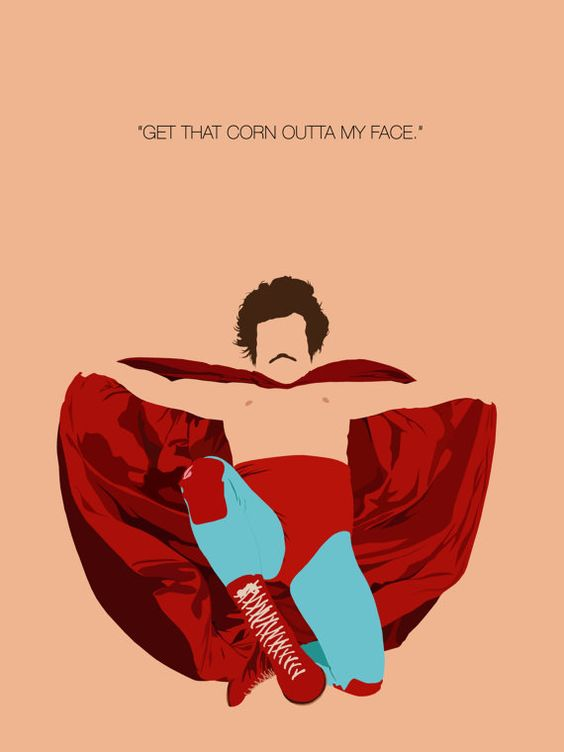 Nacho Libre Inspired Minimalist Inspirational by TKeoughDesign