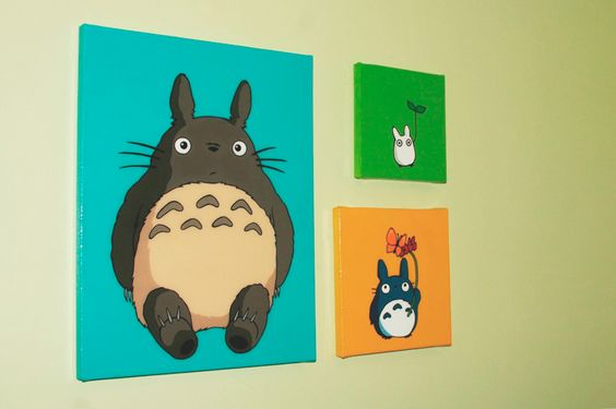 Totoro Art! Ok, this isn't a party thing really.