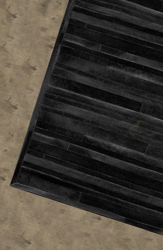 17 Stories Sathvik Handmade Cowhide Black Area Rug Black Area Rugs Area Rugs Rugs