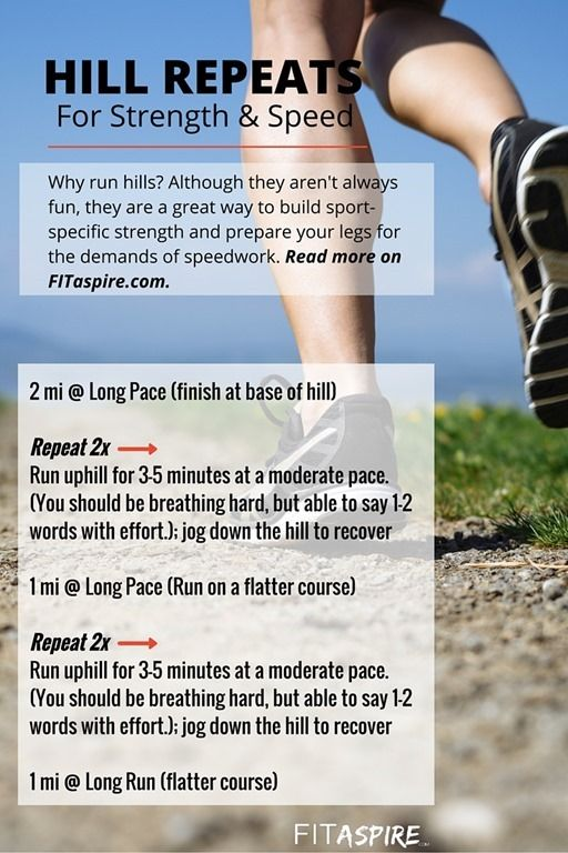 Do you run hills? Should you? Hill repeats are a great way too builds functional strength, prepare for speed work, & get faster! Find out more & get the workout details. #fitfluential