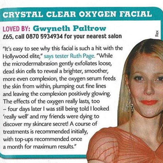 And clear oxygenating facial