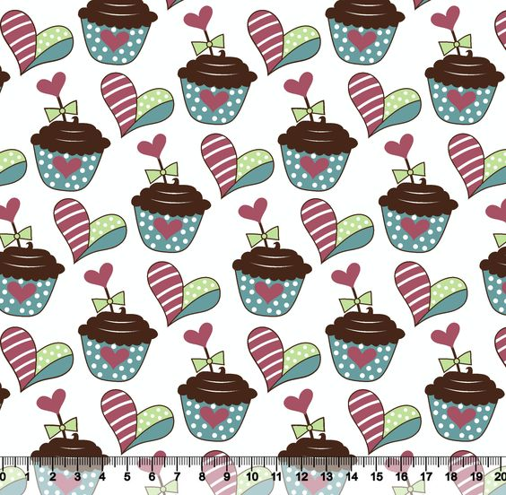 Estampa CupCake Love | Desenho 2386 Variante 03