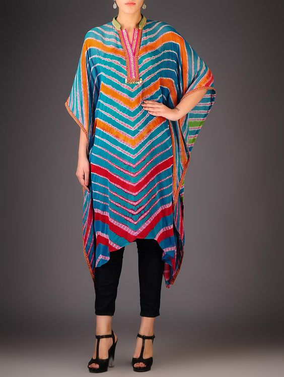 Rainbow Multi-coloured Collar Kaftans