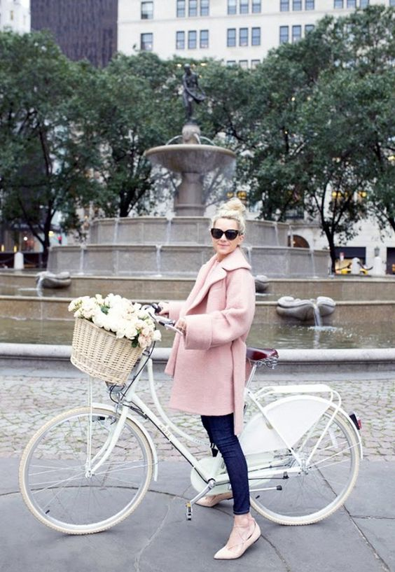 """""""Parisian style is about knowing proportions. I love how this voluminous coat plays off of more-fitted bottoms. It's all about the pieces that are easy to throw on yet still appear crisp and refined."""" — Atlantic-Pacific"""