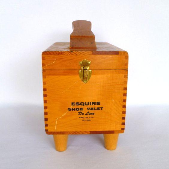 VIntage ESQUIRE SHOE VALET by orangedoorvintage on Etsy
