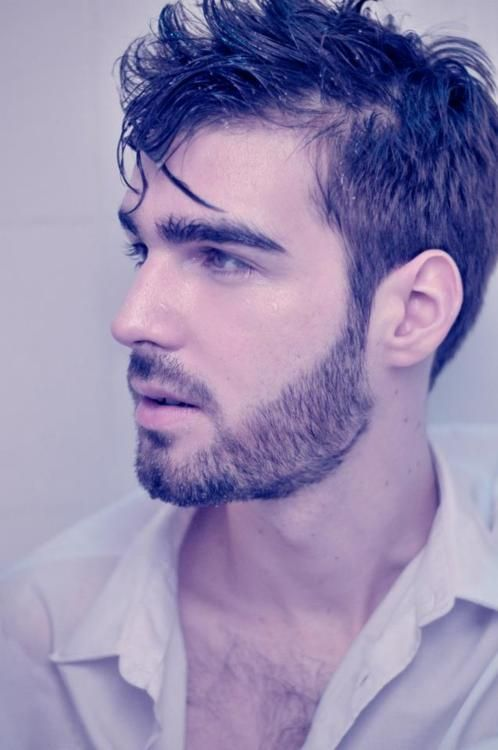 Beard styles > short & trimmed. This guy's facial hair is very sexy!